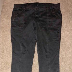 Gap Women's Charcoal Gray Leggings Sz 34r (18)